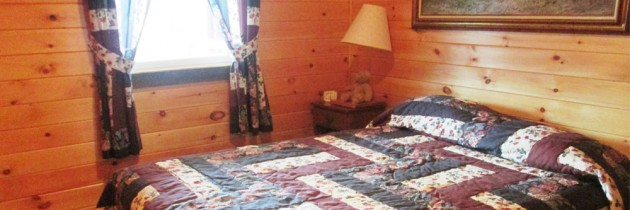 Mink cabin snug queen size bed for summer getaways in Vermont