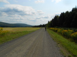 Bicycling near northern Vermont