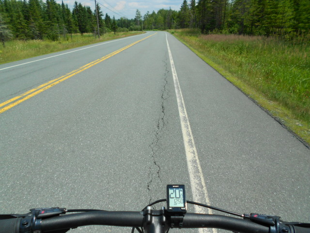 Bicycling in Vermont on Rte. 114