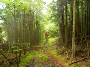 Biking on backroads in Vermont