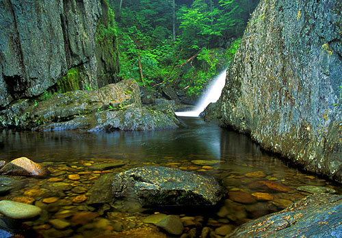 Waterfalls in New Hampshire; Garfield Falls Pittsburg, New Hampshire; Picnic Spots