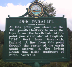 45th Parallel Historic Places in Northern Vermont