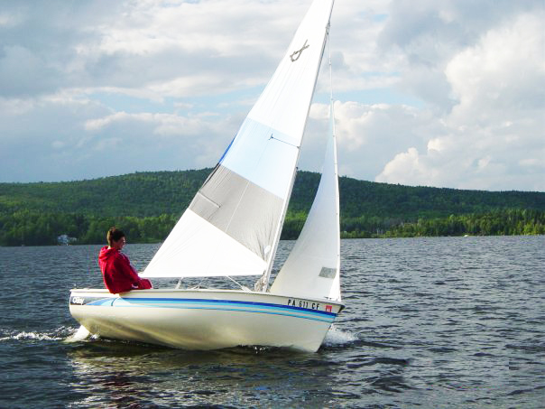 Sailing on Big Averill Lake Northern Vermont