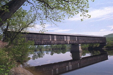 Covered Bridges in New Hampshire and Vermont; Mount Orne Covered Bridge