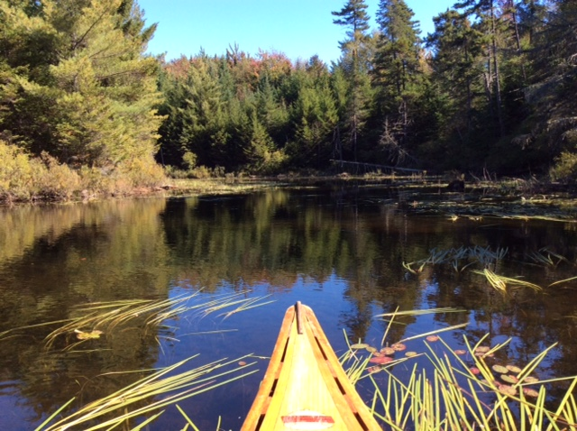 Kayaking on Norton Pond northern Vermont