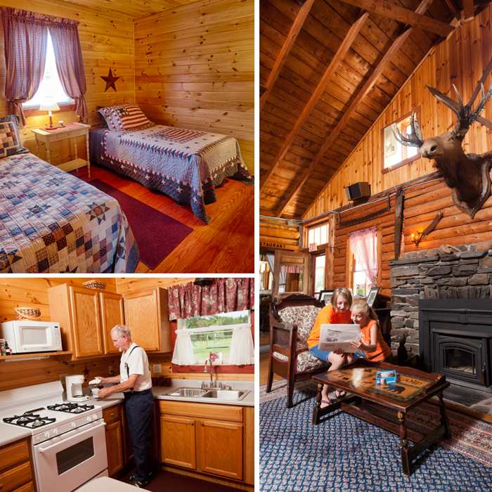 Each cabin has its own very clean, quaint, country-style decor.